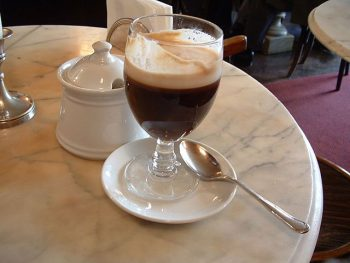 Torino Bicerin , caffè, cioccolata e panna
