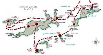 Cartina Isole Vergini