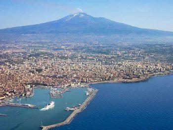 Vulcano Etna veduta aerea