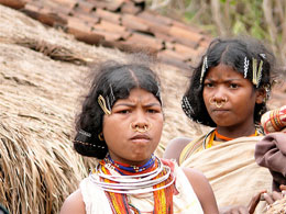 Orissa Ragazze di etnia Dongria