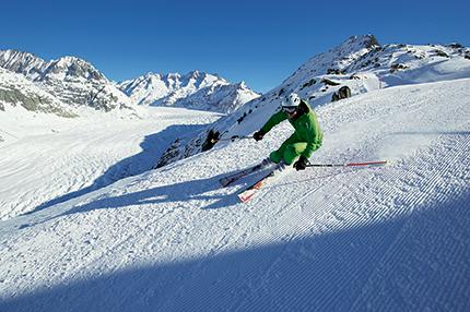 Sciare nell'Aletsch Arena