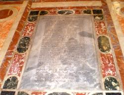 San Lazzaro degli Armeni La lapide del fondatore