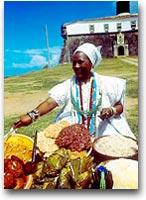 Brasile  Venditrice di piatti tipici della cucina brasiliana