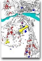 Mappa degli edifici legati alla Olivetti