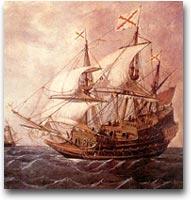 Galeone spagnolo, illustrazione del XVII sec.