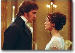 Keira Knightley (Lizzie) e Matthew Macfadyen (Darcy)