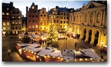 Mercatino di Natale in piazza Stortorget