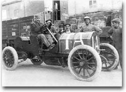 Vincent alla terza Targa Florio nel 1908