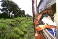 Treno rosso Il dondolio del treno concilia il sonno