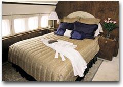 Il letto nel Boeing Business Jet