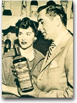 Martini Tyrone Power e Linda Christian testimonial per China Martini, 1953