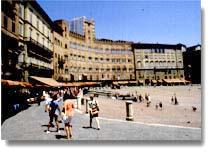 La Piazza del Campo dove si corre il Palio