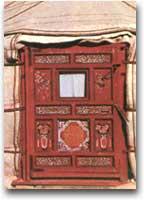 Porta d'ingresso della yurta