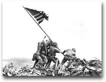 Iwo Jima, 1945. Foto: Joe Rosenthal