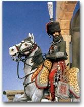 soldatini Colonnello de Laborde, 8° Ussari, Francia 1809
