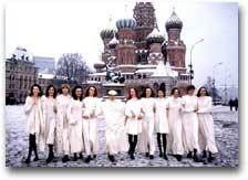 Laura Biagiotti a Mosca sulla Piazza Rossa