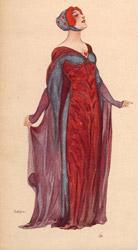 Leopoldo Metlicovitz, Illustrazione per la copertina di Francesca da Rimini di Zandonai, fantasia per pianoforte, 1914