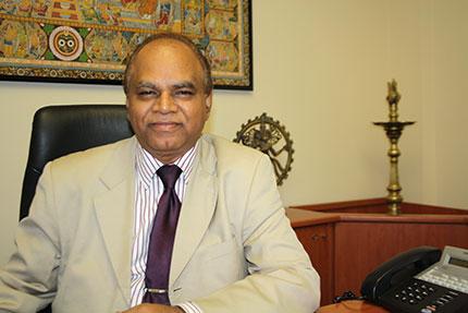 Mr. C. Gangadhar, direttore dell'Ufficio Turistico indiano in Italia