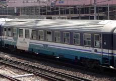 Una vettura cuccette di Trenitalia