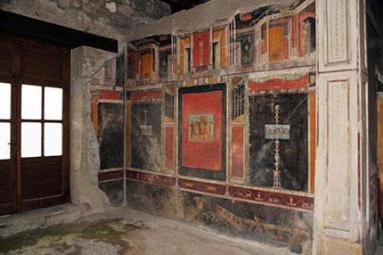 Gli affreschi nella domus di Marco Lucrezio Frontone