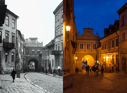 Lublino, il passaggio Grodtzka ieri e oggi