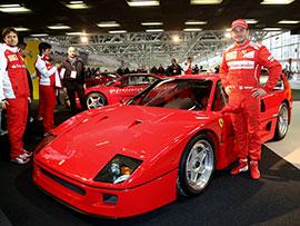 Fisichella al Museo Ferrari