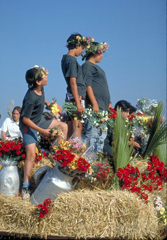 Un momento della festa di Shavuot in Israele