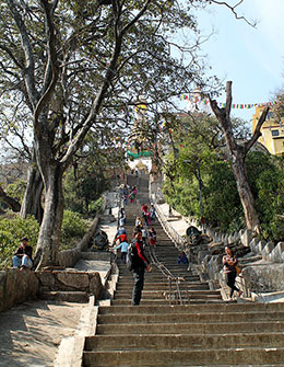 Stairs Swayambhunath, Temple, Kathmandu