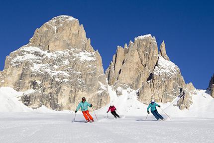 Sciare nella Val di Fassa