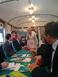 Valsesia treni storici Durante la presentazione dell'niziativa