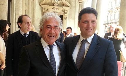 Da sinistra, Franjo Ljuljdjuraj, Presidente di Valtur e del Gruppo Orovacanze e il Direttore generale Domenico Pellegrino