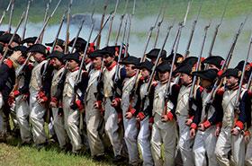 Waterloo Soldati schierati
