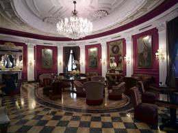 La lobby dell'hotel