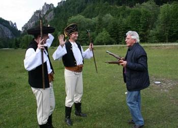 Il nostro intrepido Claudio Pina, durante la rievocazione storica sullo Snilovske Sedlo