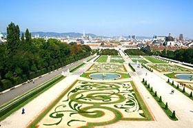 I giardini del Palazzo del Belvedere