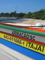 Una barca sulla Praia do Trapiche