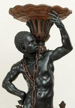 Etiope portavaso, particolare, 1700 circa (Venezia, Ca' Rezzonico Museo  del Settecento Veneziano)