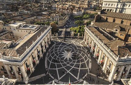 Piazza del Campidoglio, progettata da Michelangelo