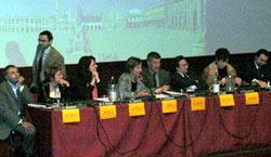 I sindaci e gli assessori delle 12 comunità presenti all'incontro con la stampa