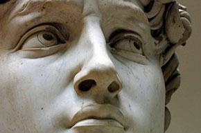 Il David conservato nella Galleria dell'Accademia a Firenze