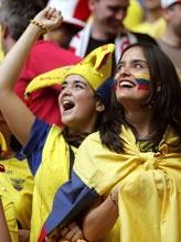 Tifose dell'Ecuador (Foto:afp)