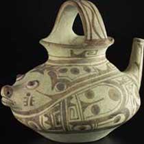 Vaso azteco da cioccolata, Musées Royaux d'Art et d'Histoire, Bruxelles, Belgio