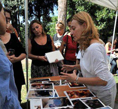 Paola Brivio, photo editor di Geo, al Laboratorio di fotografia nell'edizione dell'anno scorso