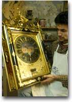 Orologio maltese nel laboratorio Farruggia a Mdina