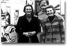 Le sorelle Giussani con il collaboratore Mario Gomboli