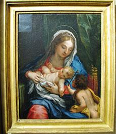 Madonna con Bambino e San Giovannino rubato dall'Arcivescovado di Milano