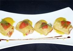 Piatto preparato dallo chef indiano de