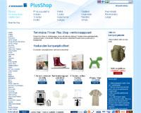 La pagina iniziale di Finnair Plus Shop