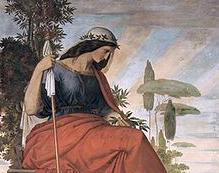 Allegoria dell'Italia in un affresco di Philipp Veit