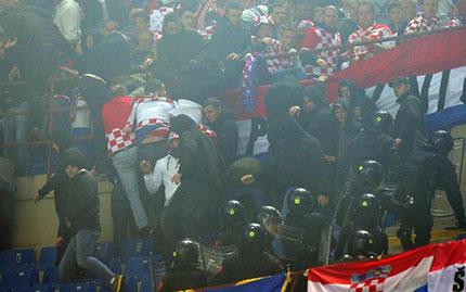 Gli scontri di Italia-Croazia
